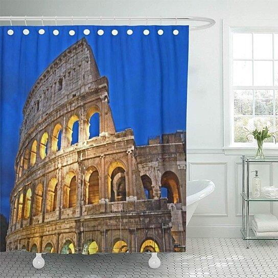 Buy Italy Rome Colosseum Photographs Italian Architecture Buildings Ruins Ancient Bathroom Decor Bath Shower Curtain 66x72 Inch By Wallis Flora On Opensky