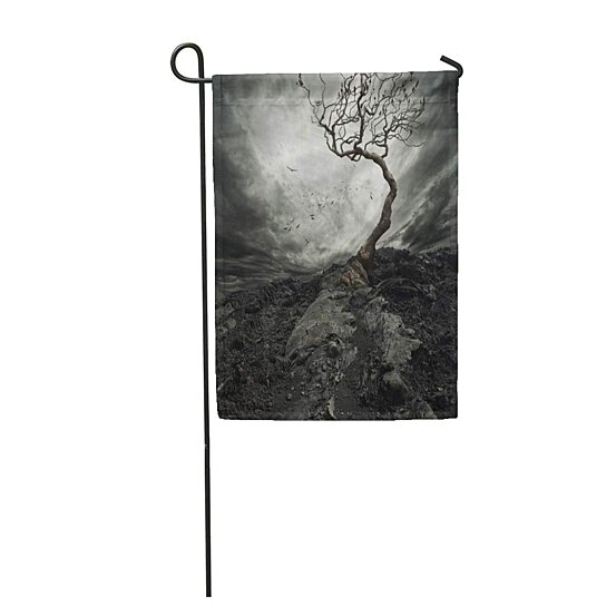 Buy Landscape Dramatic Sky Over Old Lonely Tree Dark Mountain Night Scary Horror Roc Garden Flag Decorative Flag House Banner 28x40 Inch By Wallis Flora On Dot Bo