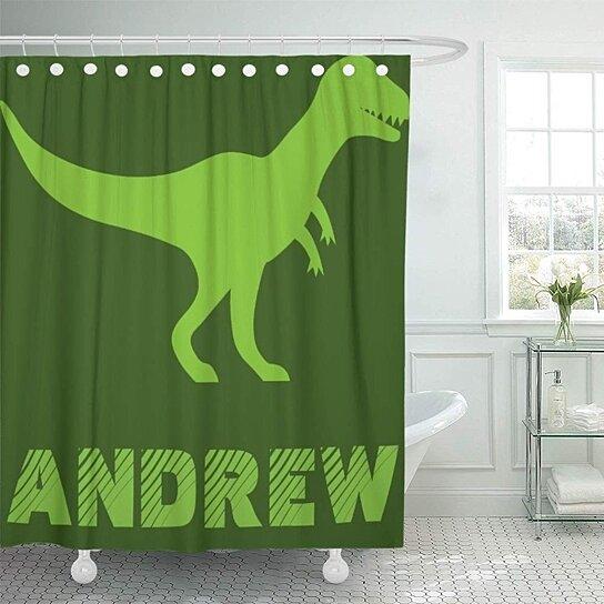 Buy Personalized Custom Rex Dinosaur Cross Body Kids Birthday Boy Bathroom Decor Bath Shower Curtain 60x72 Inch By Wallis Flora On Dot Bo