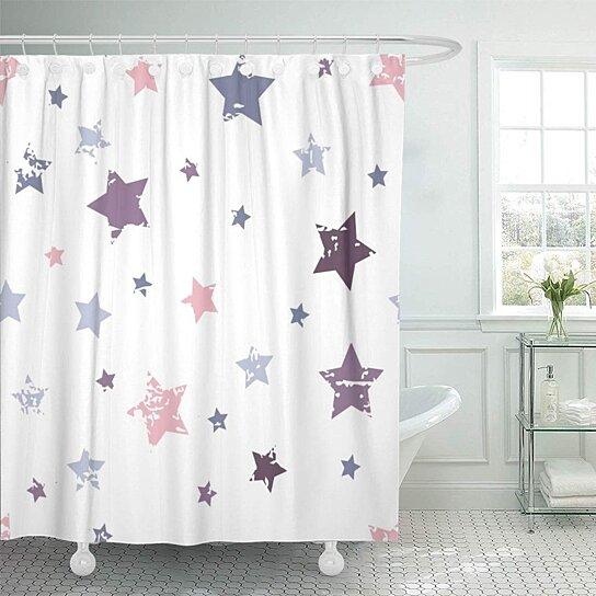 Buy Pink Pattern Cute Baby Colorful Stars Girl Kid Boy Bathroom Decor Bath Shower Curtain 60x72 Inch By Wallis Flora On Dot Bo