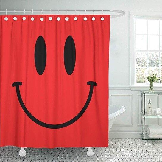 Buy Sad Red Face Round Designer Fun Kids Boy Bathroom Decor Bath Shower Curtain 66x72 Inch By Wallis Flora On Dot Bo