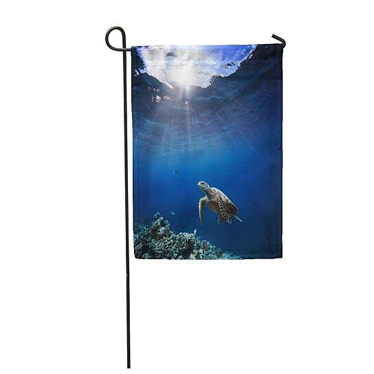 """12/"""" X 18/"""" PARADISE SEA TURTLES POLYESTER GARDEN FLAG"""