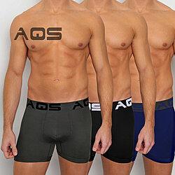 ecb63a1ef AQS Men s Black Grey Blue Boxer Briefs