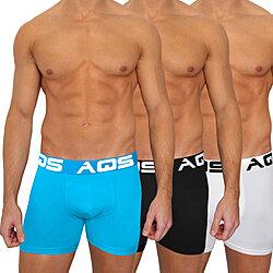 944b7fa69 AQS Men s Black Light Blue White Boxer Briefs