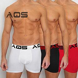 ba1b602cd AQS Men s Red Black White Boxer Briefs