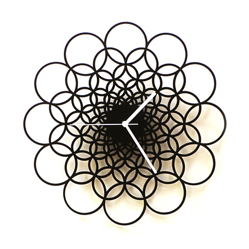 "Rings - 11½"" / 16"" / 23½"" unique contemporary wooden wall clock made of natural materials, wall art"