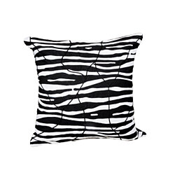 Tribal Chic Organic Hand-Embroidered Pillow, Zebra