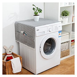 2PCS Fridge Dust Cover Washing Machine Cover with Storage Bag Home Decor