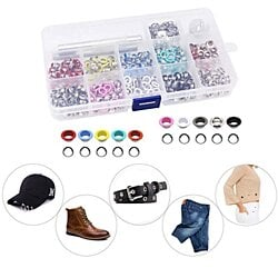 500 Pieces Grommet Kit Metal Eyelet Kit for Bag,Clothes Carfts,3/16 Inch 10 Colors