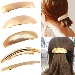 5pcs Hair Clip for Women Metal Hair Pins Simple Retro Large Hair Barrettes