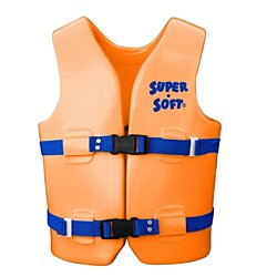 TRC Recreation Kids Super Soft USCG Vest M - Orange Breeze