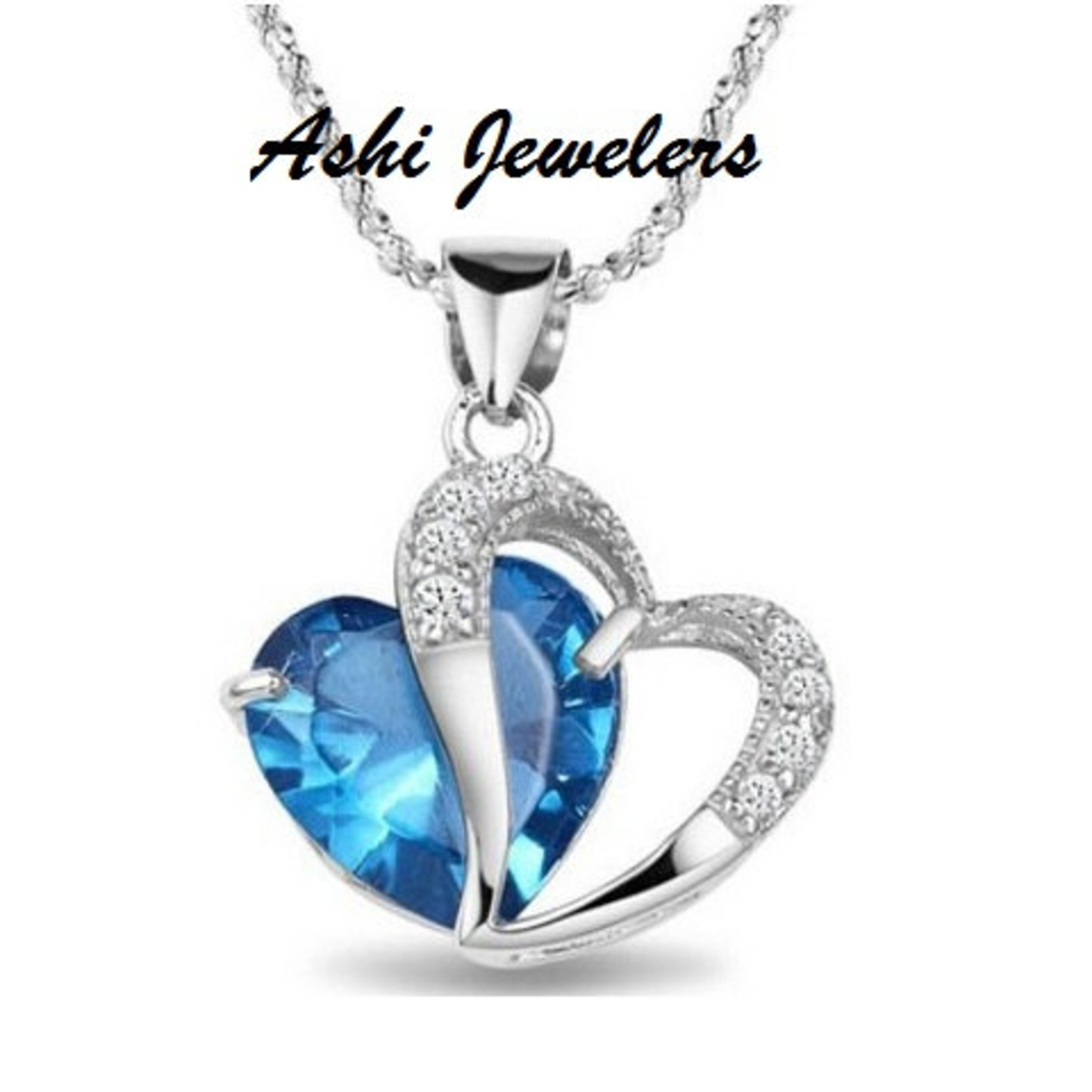Choose 1 Beautiful Heart Shaped Platinum plated CZ Pendant Necklace 5555675d7aaaaa4f0e8b74bb