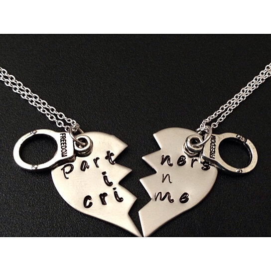 Buy Partners In Crime Necklace Hand Stamped Necklace