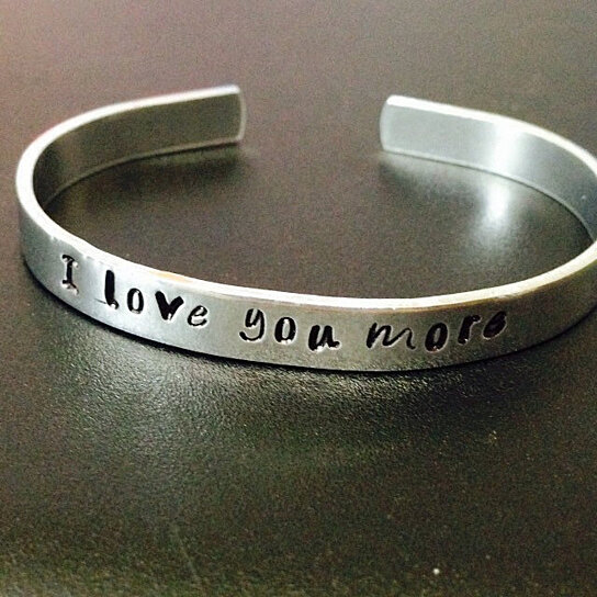 Personalized Bracelet Hand Stamped Jewelry Customize Your Own Cuff Skinny 1 4 Inch