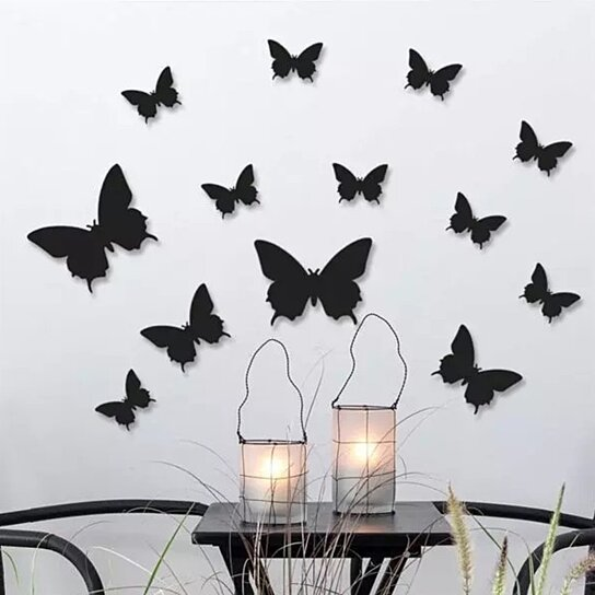 Buy 3D Butterfly Wall Decor in 3 Colors by Avesta on OpenSky