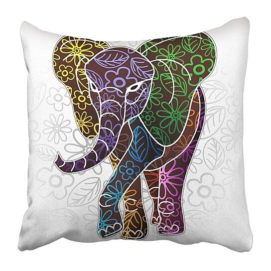 Buy Animal Elephant Floral Batik Design Graphic Pillowcase