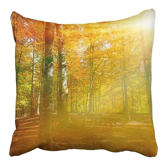 Buy Blue Autumn Landscape In Seven Lakes Yedigoller Park Bolu Turkey Orange Beauty Pillowcase Cushion Cover 16x16 Inch By Andrea Marcias On Dot Bo