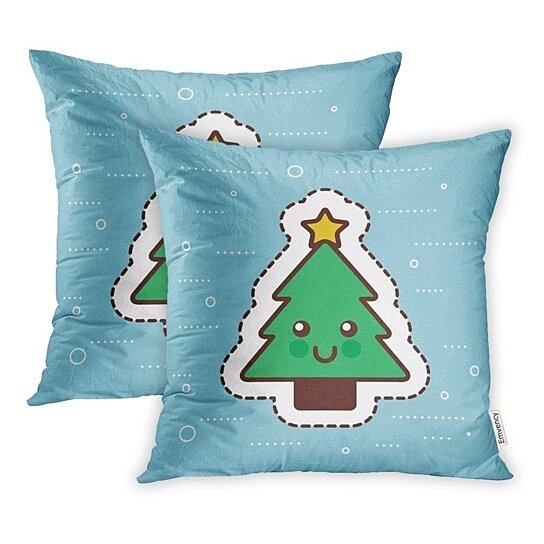 Buy Celebration Kawaii Christmas Tree Pine Star Happy Cartoon Character Cute Festive Fun Pillow Case Pillow Cover 20x20 Inch Set Of 2 By Andrea Marcias On Dot Bo With tenor, maker of gif keyboard, add popular anime christmas animated gifs to your conversations. celebration kawaii christmas tree pine star happy cartoon character cute festive fun pillow case pillow cover 20x20 inch set of 2