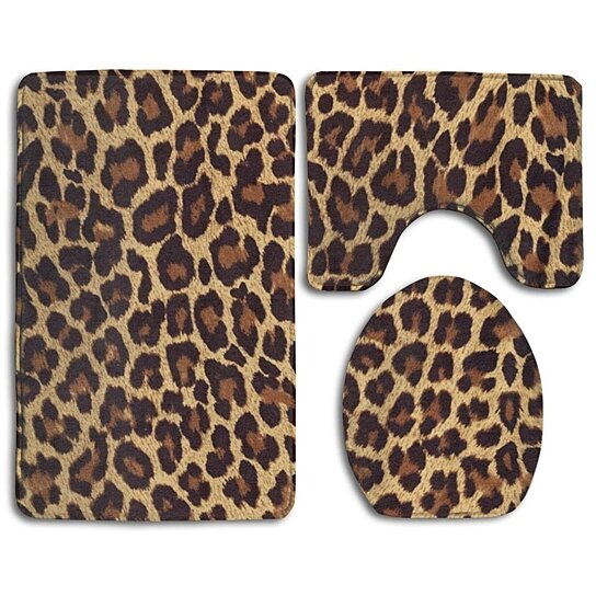 Buy Cool Cheetah Leopard 3 Piece Bathroom Rugs Set Bath Rug Contour Mat And Toilet Lid Cover By Andrea Marcias On Dot Bo