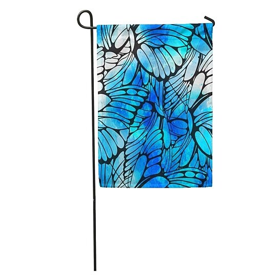 Buy Flying Butterflies Watercolor Abstract Watercolour Drops And Strokes Butterfly Garden Flag Decorative Flag House Banner 28x40 Inch By Andrea Marcias On Dot Bo