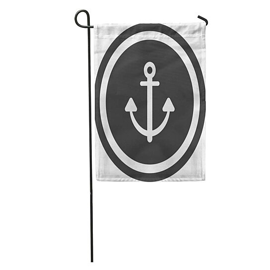 Buy Gray Antique Anchor Sign Round Black Boat Chain
