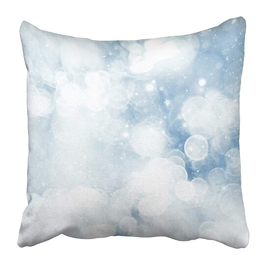 Buy Gray Christmas Silvery Blue Highlights Snow Rain Water Blurred Silver Blurry Winter Pillow Case Cushion Cover 18x18 Inch By Andrea Marcias On Dot Bo