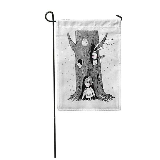 Buy Hand The Tree Angel Bunny And Bird On Airy Bark Black Burrow Cartoon Garden Flag Decorative Flag House Banner 28x40 Inch By Andrea Marcias On Dot Bo Christmas tree angel cartoon vectors (875). dot bo
