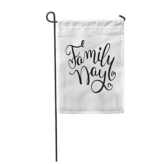 Buy Happy Family Day Hand Lettering Abstract Celebration Child Clan Garden Flag Decorative Flag House Banner 28x40 Inch By Andrea Marcias On Dot Bo