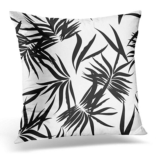 Buy Hawaiian Floral Tropical Patten Palm Leaves Outline Black Silhouette Exotic Coconut Random Pillow Case Pillow Cover 20x20 Inch By Andrea Marcias On Dot Bo All black outline black filled multicolor. dot bo