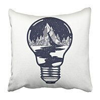 Buy Mountains In Light Bulb Tattoo Symbol Of Travel Tourism River Stars Flows From The Pillowcase 20x20 Inch By Andrea Marcias On Dot Bo