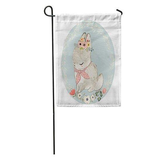 Buy Nursery Cute Hare Floral Wreath Woodland Bunny Baby