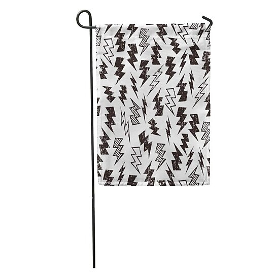 Buy Pattern Black And Distressed Lightning Bolt Kid Thunder Distress Garden Flag Decorative Flag House Banner 28x40 Inch By Andrea Marcias On Dot Bo