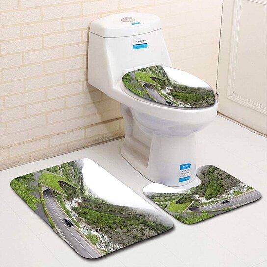 Buy perils Driving 3 Piece Bathroom Rugs Set Bath Rug ...