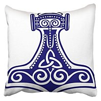 Buy Thor Thor S Hammer Design Triquetra Spirals Viking Mjolnir Asatru Odin Amulet Pagan Pillowcase Cushion Cover 20x20 Inch By Andrea Marcias On Dot Bo