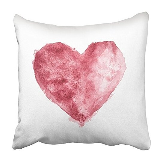 Buy Abstract Red Burgundy Watercolor Heart Acrylic Painting Aquarelle Bordo Pillowcase Cushion Cover 20x20 Inch By Andrea Marcias On Dot Bo