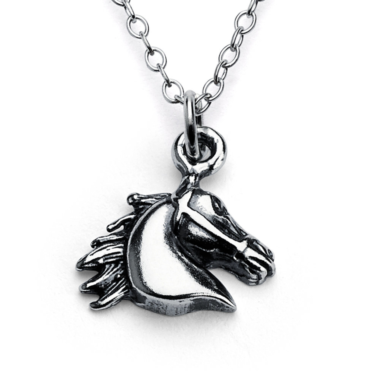 Horse Head Animal Symbol Of Victory & Freedom Charm Pendant Necklace #925 Sterling Silver #azaggi N0008s 12 Child