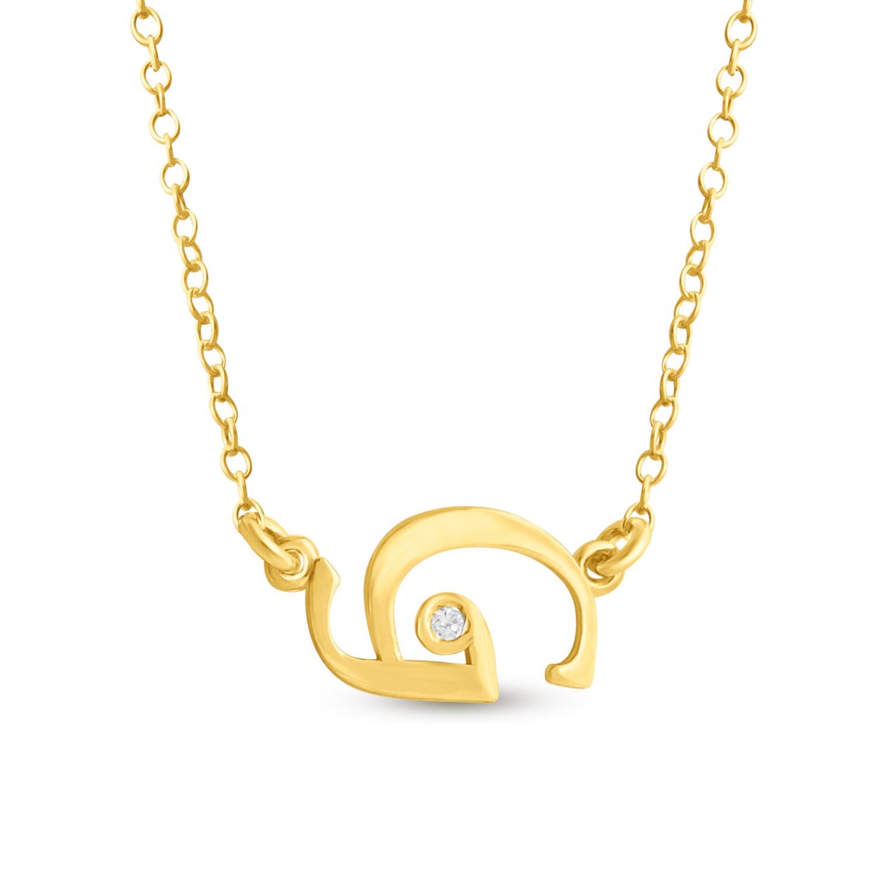 Sideways Initial Script Letter G With Cubic Zirconia Stone Charm Pendant Necklace #14k Gold Plated Over 925 Sterling Silver #azaggi N0853g_g 12 Child