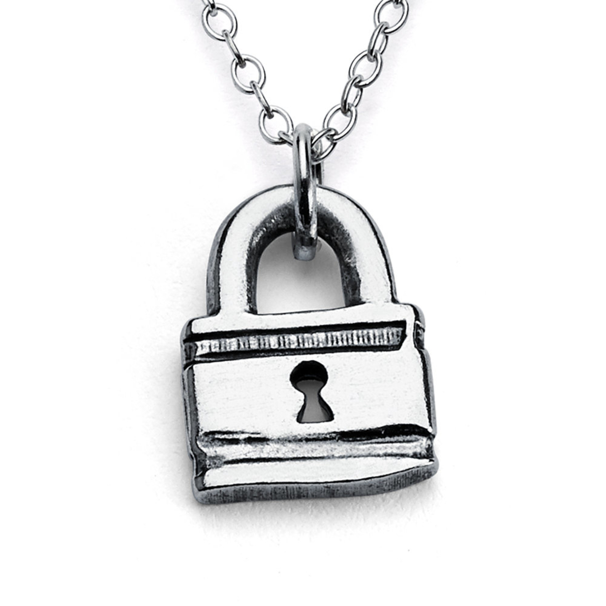 Little Love Lock Padlock Romantic Sweethearts Double Sided Charm Pendant Necklace #925 Sterling Silver #azaggi N0014s 12 Child