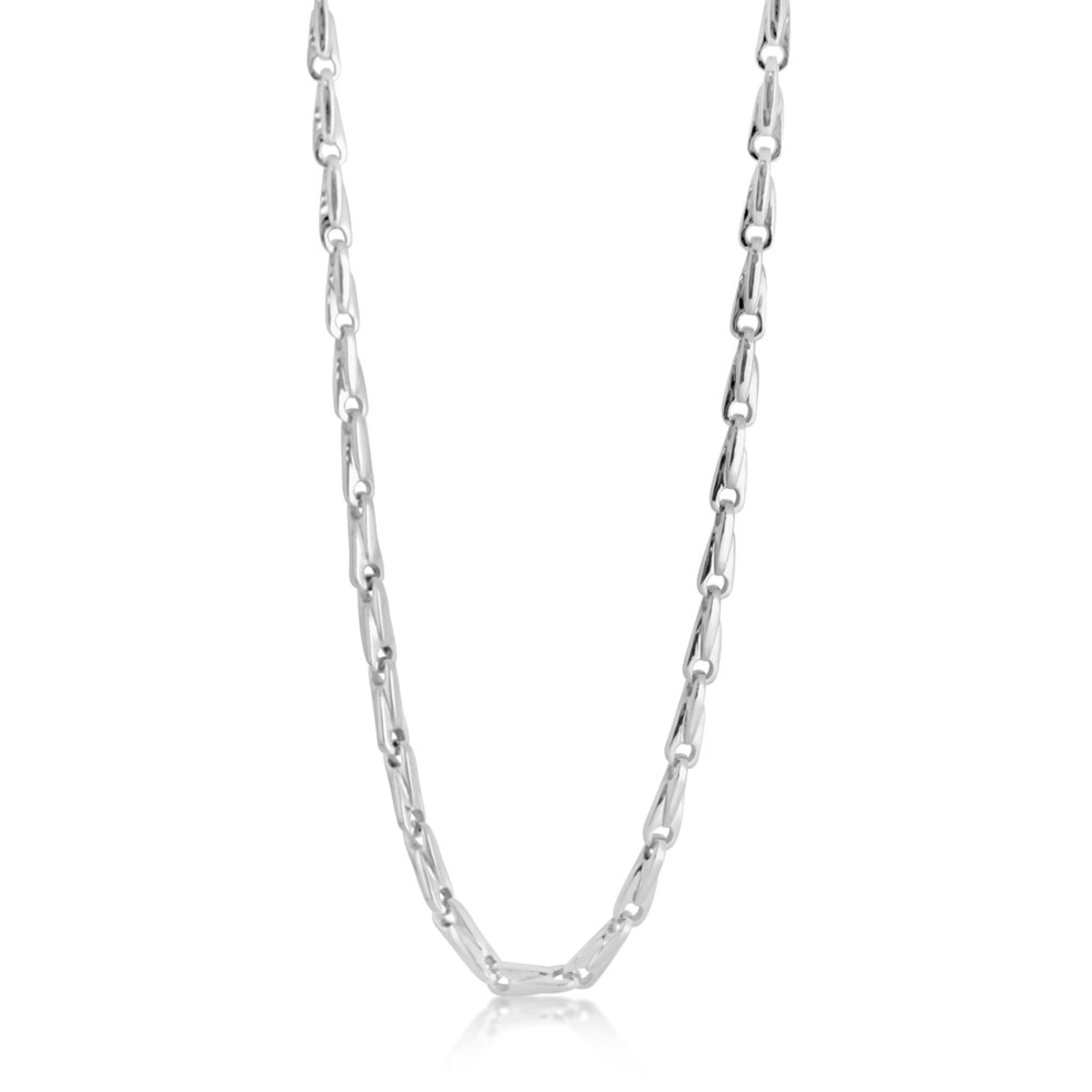 Mengs 24 Link Chain Necklace #925 Sterling Silver #azaggi N0676s