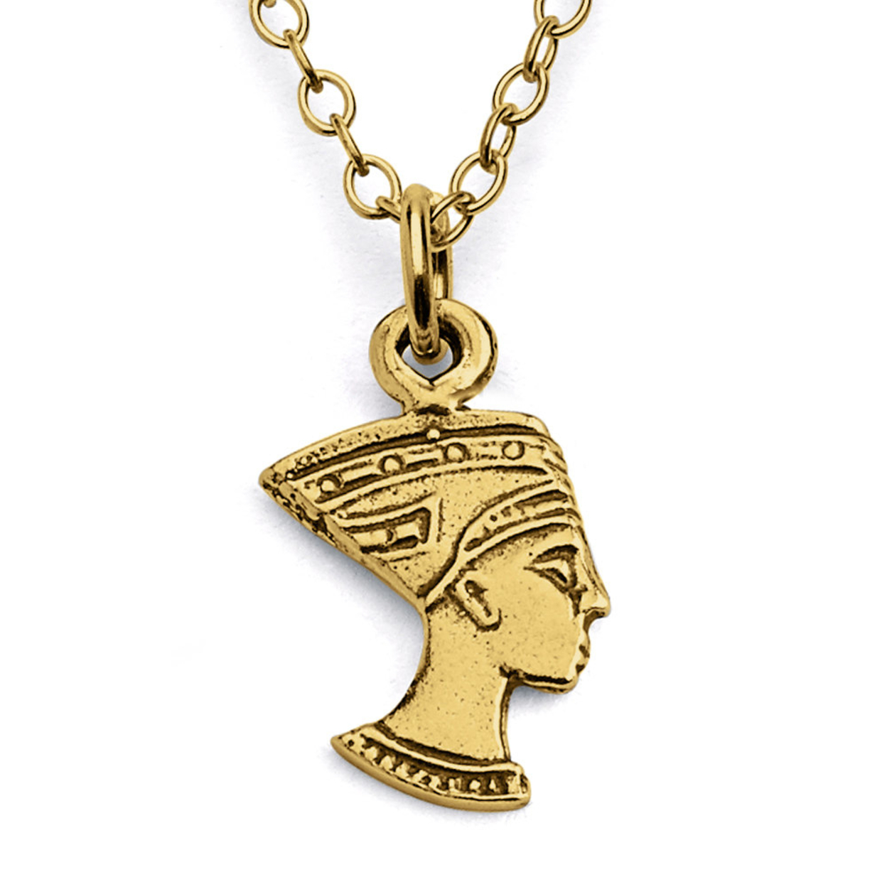 Nefertiti Ancient Egyptian Queen Historical Figure Charm Pendant Necklace #14k Gold Plated Over 925 Sterling Silver #azaggi N0024g 12 Child