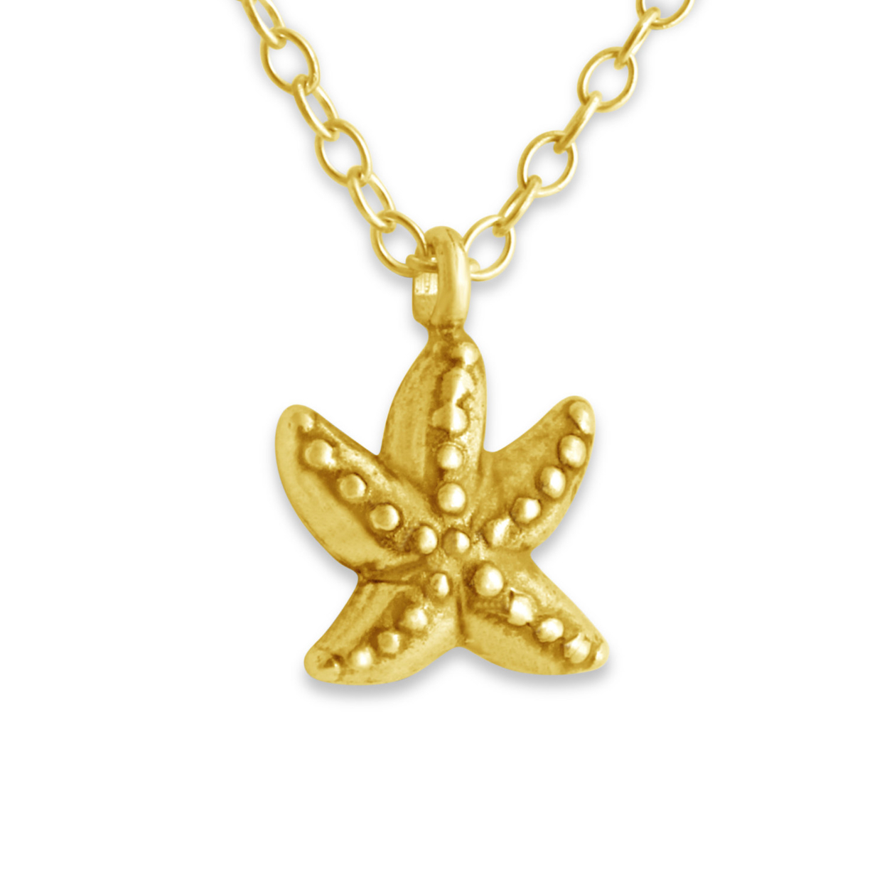 Starfish Sea Star Marine Animal Symbol Of Love Double Sided Charm Pendant Necklace #14k Gold Plated Over 925 Sterling Silver #azaggi N0079g 12 Child