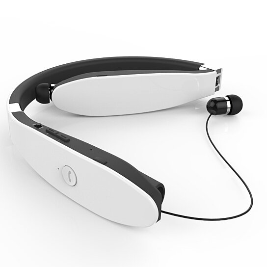 Buy Neckband Retractable Bluetooth Headset With Vibration By Azeca On OpenSky