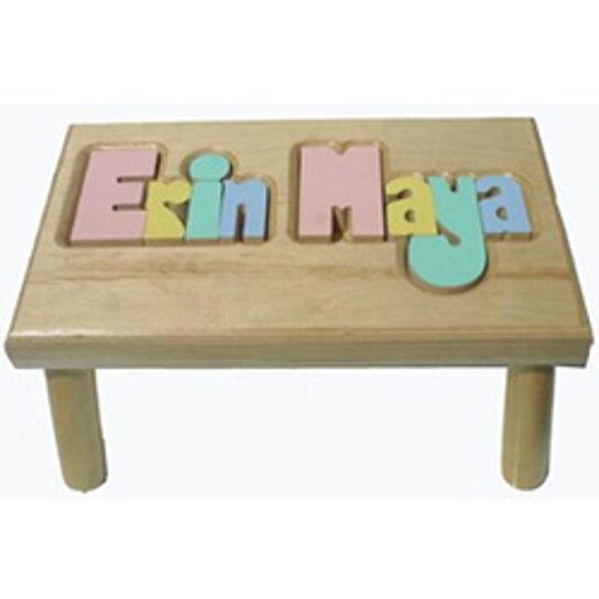 Buy Personalized Puzzle Stool 2 Names By Baby Kids