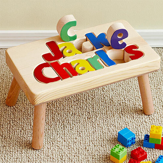 Buy Personalized Wooden 1 Name Puzzle Stool By Baby Kids