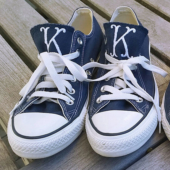 buy monogrammed adult converse sneakers by babybox on opensky