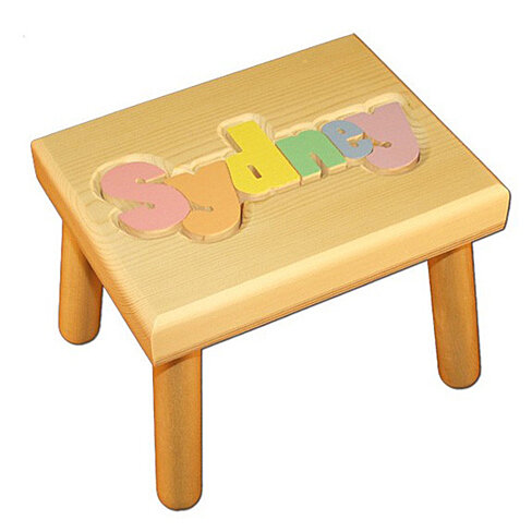 Buy Personalized Wooden Step Stool Pastel By Babybox On