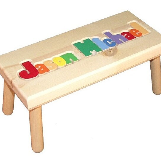 Buy Personalized Wooden Step Stool Primary By Babybox On