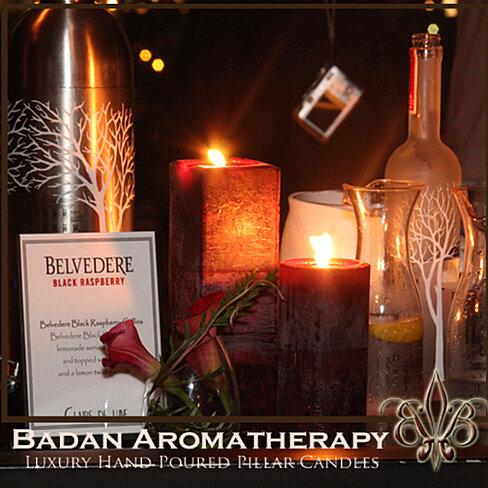 Buy Black Raspberry Pillar Candles by Badan Body on OpenSky