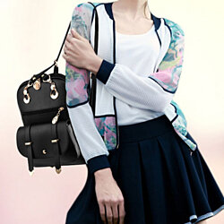 58337b45a7 2017 New Style Fashion Women Backpack Pu Leather School Bags for Girls with  Purse and Bear