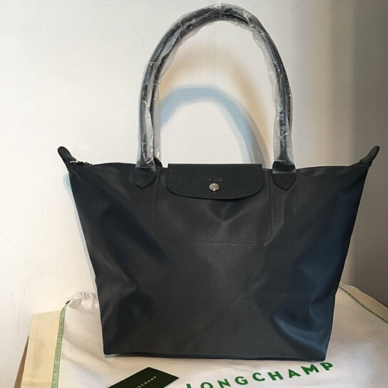 5233102d63b1 Buy France Made Longchamp Le Pliage Neo Large Tote Bag Graphite 1899578897  by bagshop on OpenSky